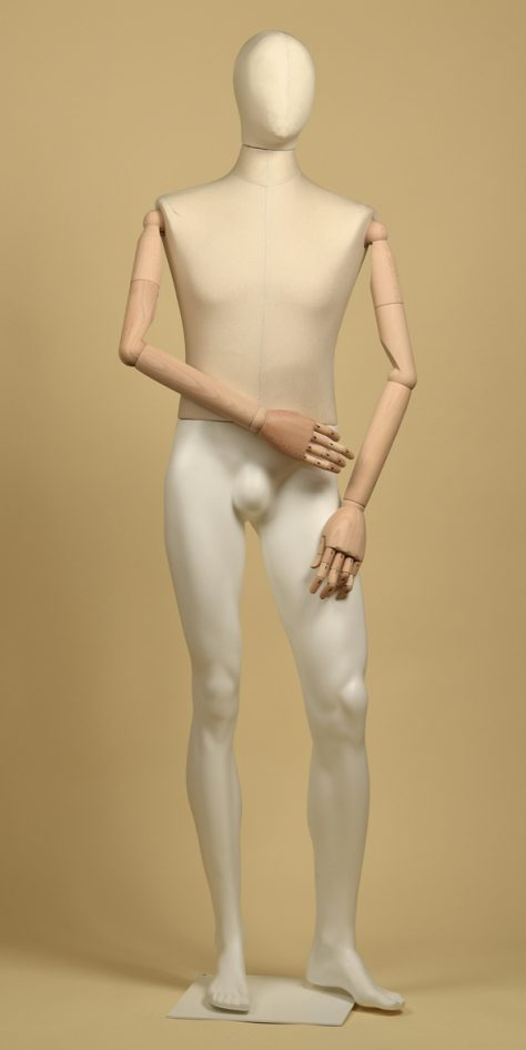 Mannequin-man-arms-wood-cotton-panama