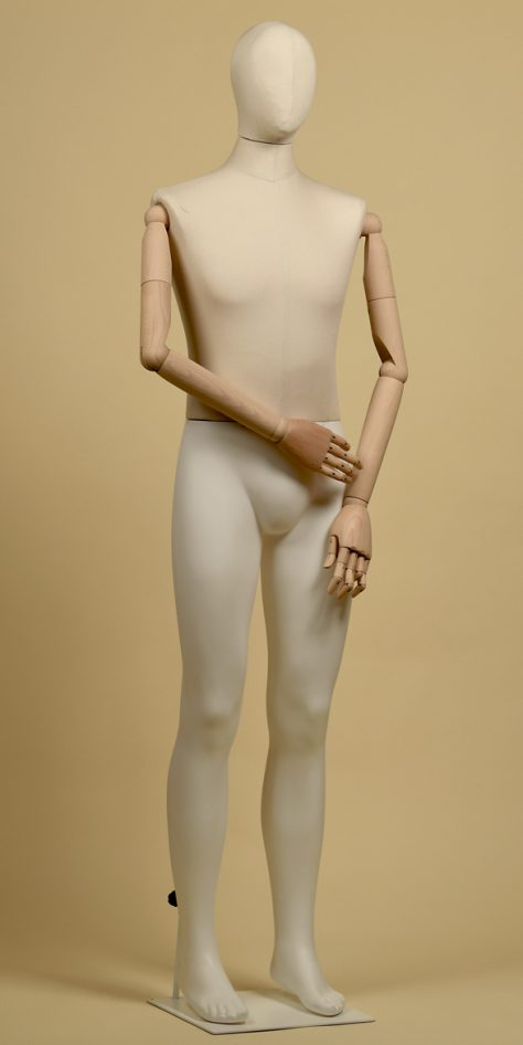 Mannequin-man-wood cotton-panama-linear-position