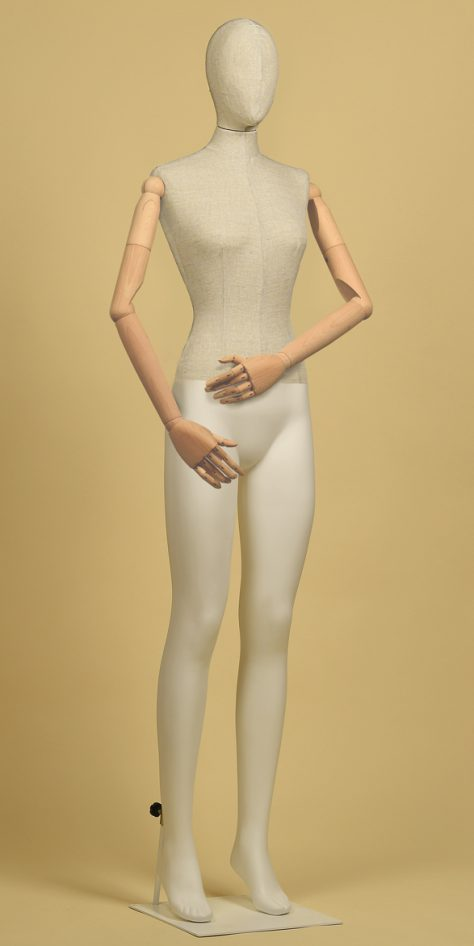 Mannequin-woman-head-arms-wood-mix-linseed-linear-position