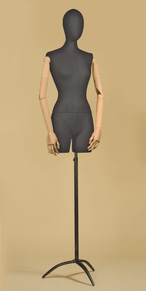 bust-tailor-woman-thigh-arms-cotton-black-tripod