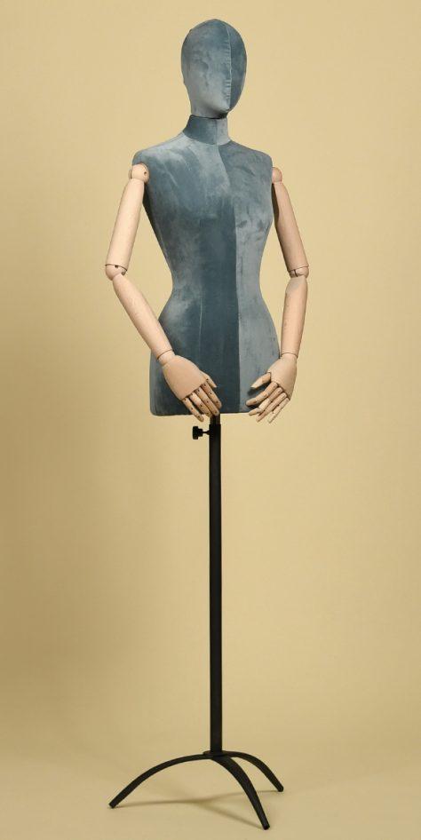 bust-tailoring-woman-velvet-heaven-tripod-iron