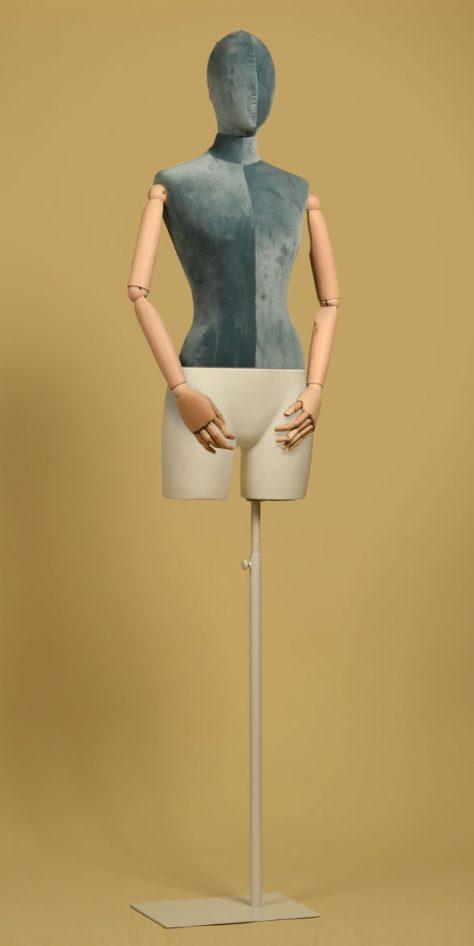 female-tailors-dummy-prussian-blue-velvet-beechwood-arms-white-iron-base