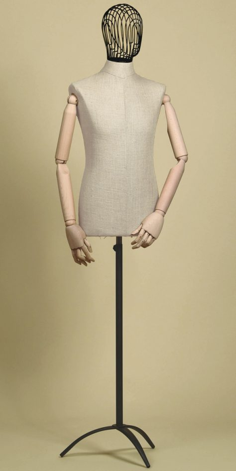 sartorial-bust-man-head-wire-iron-arms-mix-linen-tripod-iron