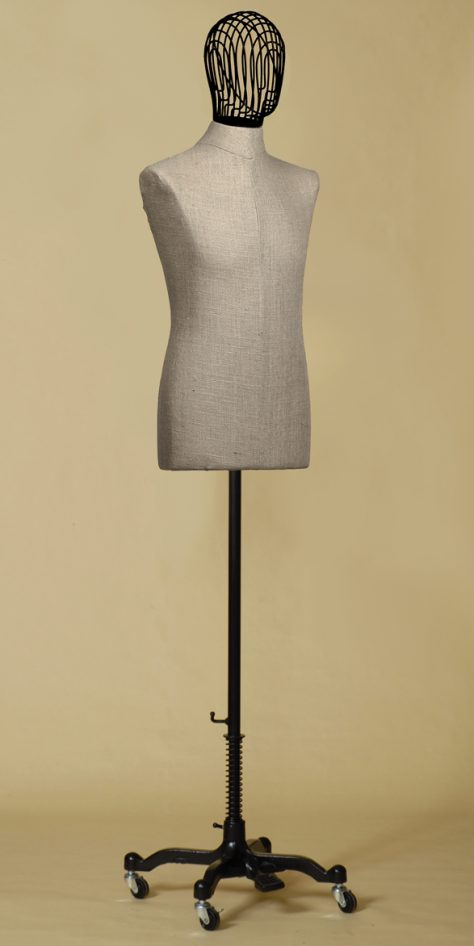 sartorial-bust-man-head-wire-raw-linen-wheels-iron